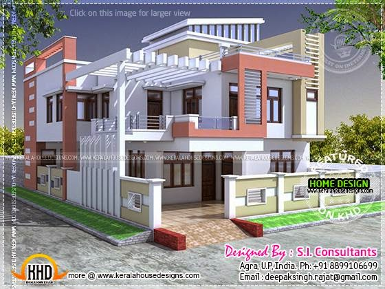 Modern indian house in 2400 square feet kerala home Indian modern house