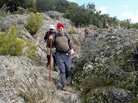Baixant cap a la vall de la riera d'Avencó