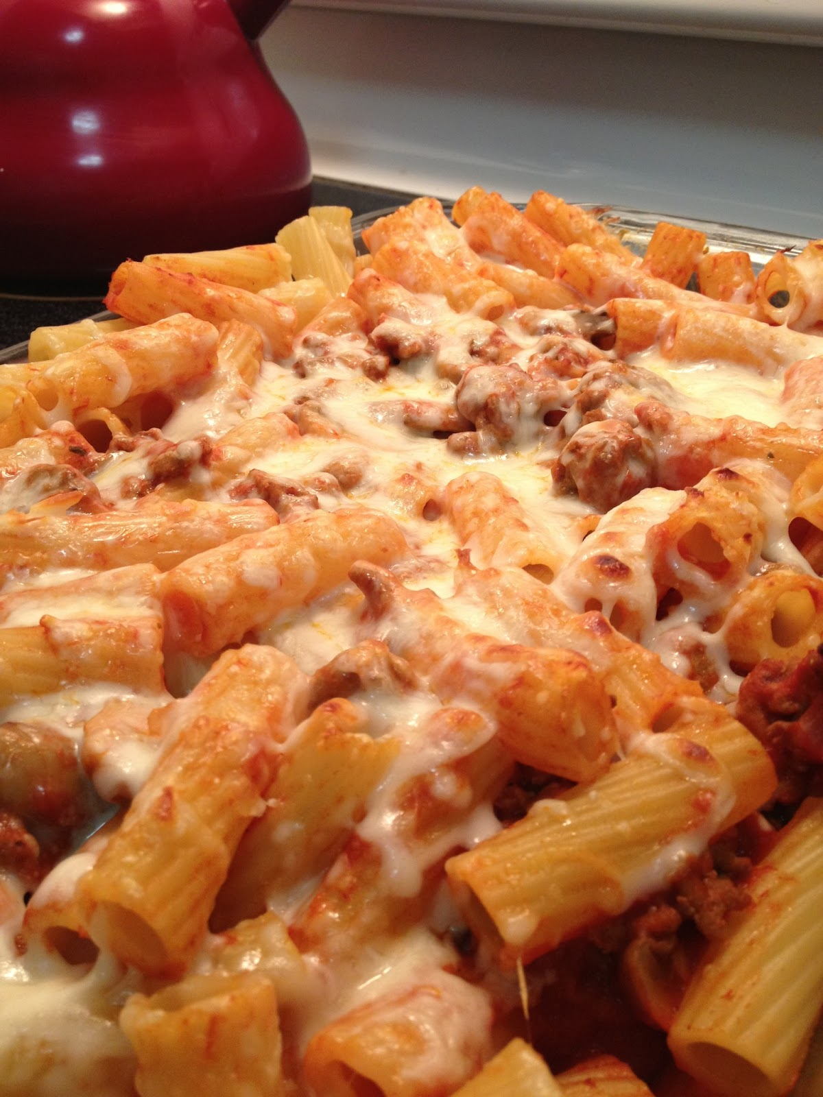 Ground turkey baked rigatoni stress baking for Easy things to make for dinner for two