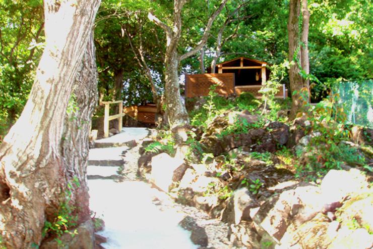 露天風呂への近道