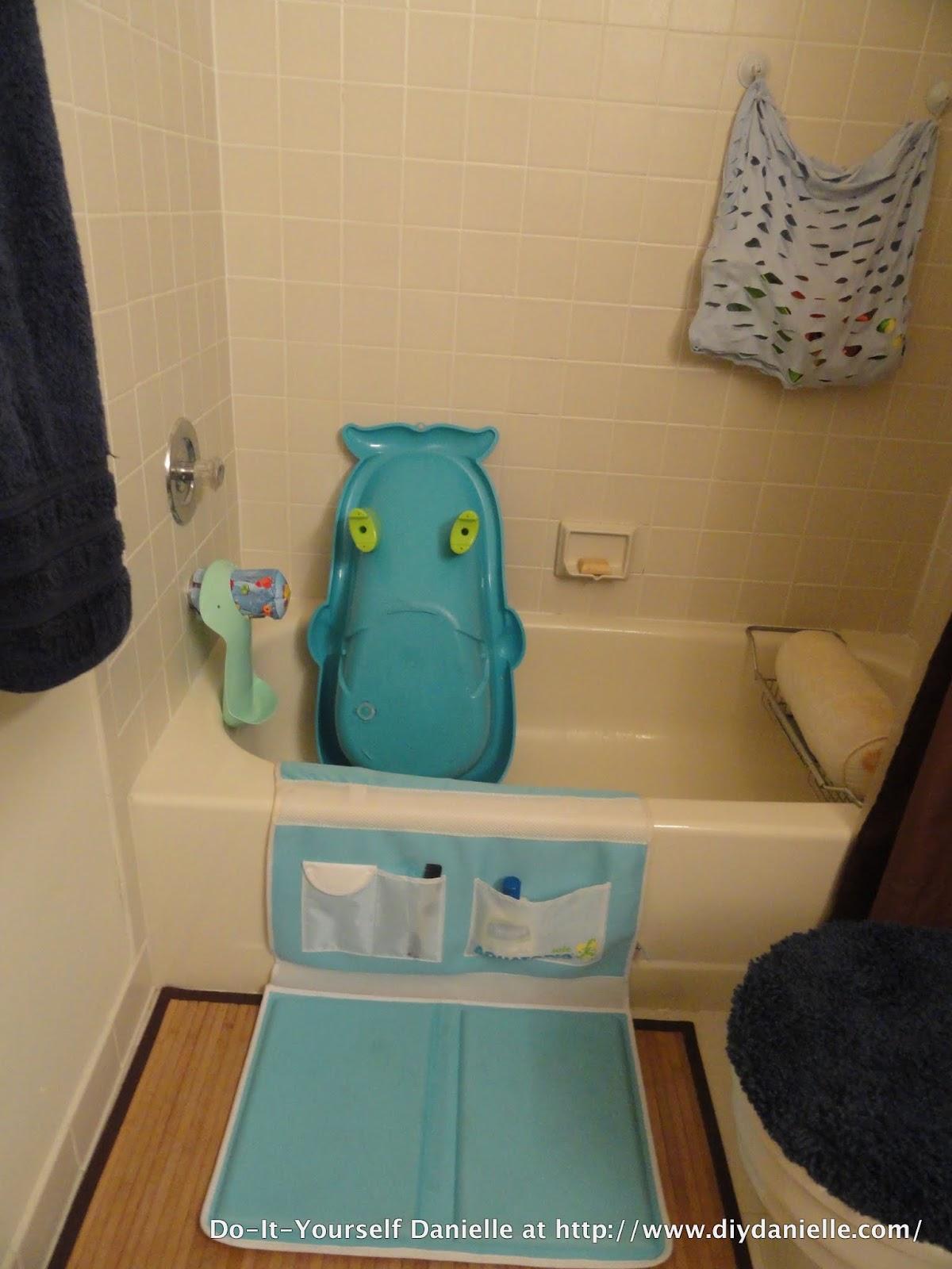 diy baby bathroom organization diy danielle. Black Bedroom Furniture Sets. Home Design Ideas