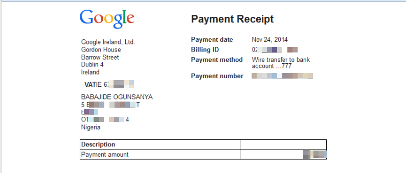 Doc800500 Payment Received Receipt Doc12751650 Payment – Payment Received Receipt