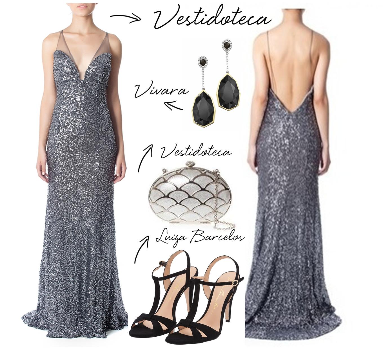 Bolsa De Festa Com Vestido Preto : Copie o look vestido de festa costa nua madrinhas