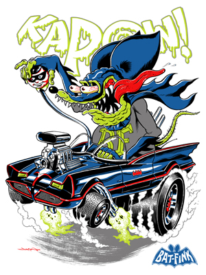 "DC Comics x Rat Fink ""Bat-Fink"" Standard Edition Screen Print by Jason Edmiston"