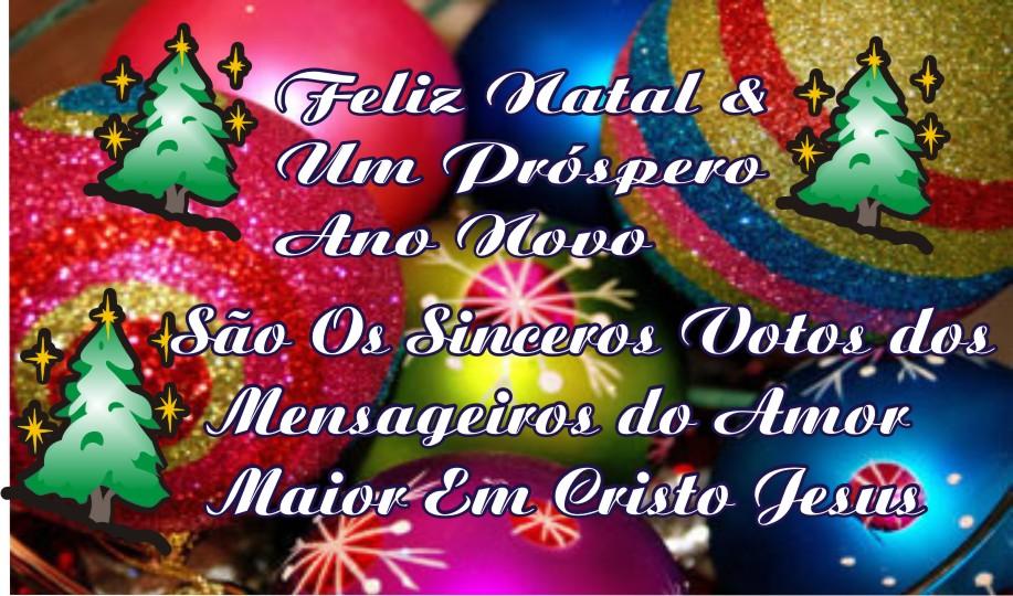 Feliz Natal & Um Próspero Ano Novo