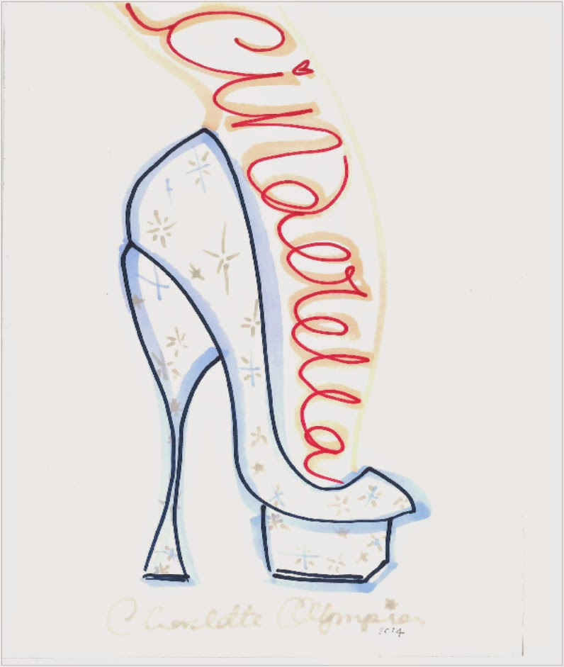 Charlotte Olympia Cinderella Glass Slipper Sketch