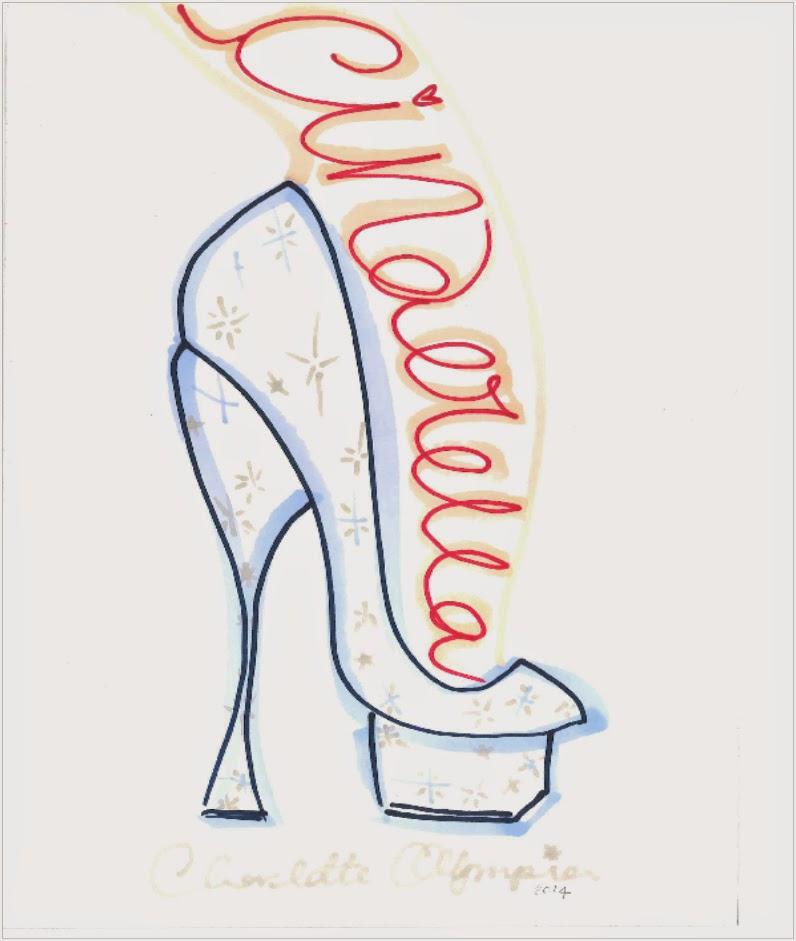 Charlotte Olympia Cinderella Glass Slipper Sketch