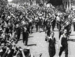 obreros de turin en huelga