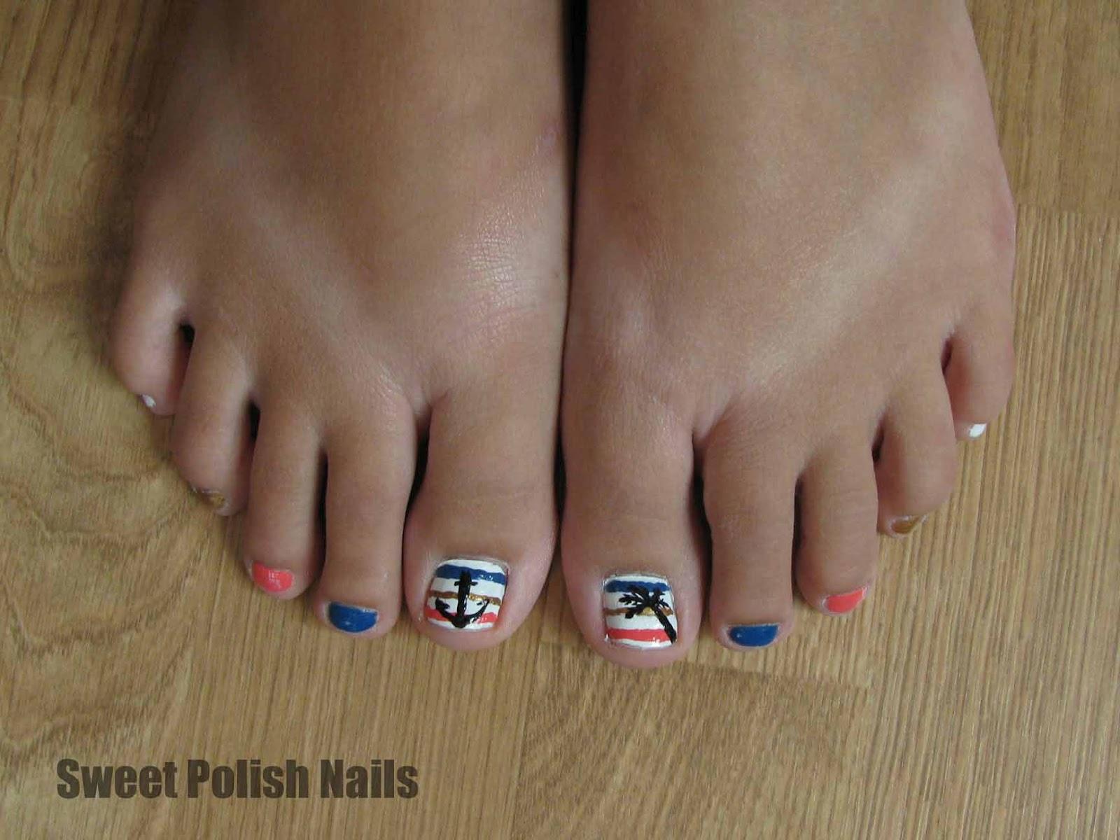 sweet polish nautical toes