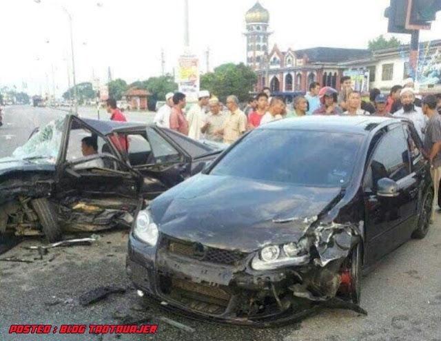 ... gambar-gambar sekitar kemalangan Ustaz Azhar Idrus di terenggannu