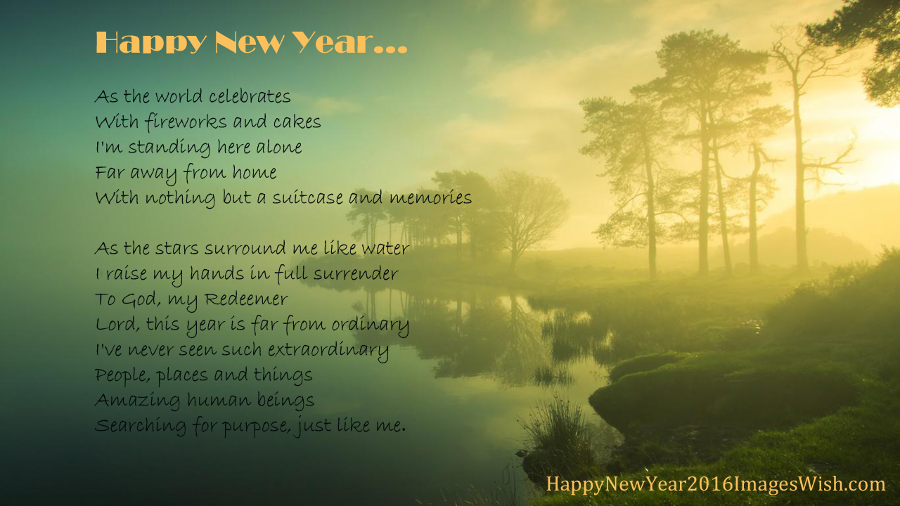 New year 2016 poem