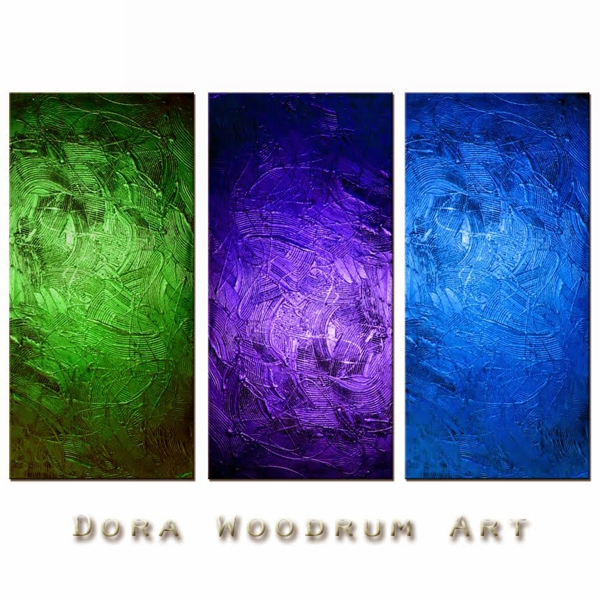 "Abstract Painting ""The Power of Positive Thinking"" by Dora Woodrum"
