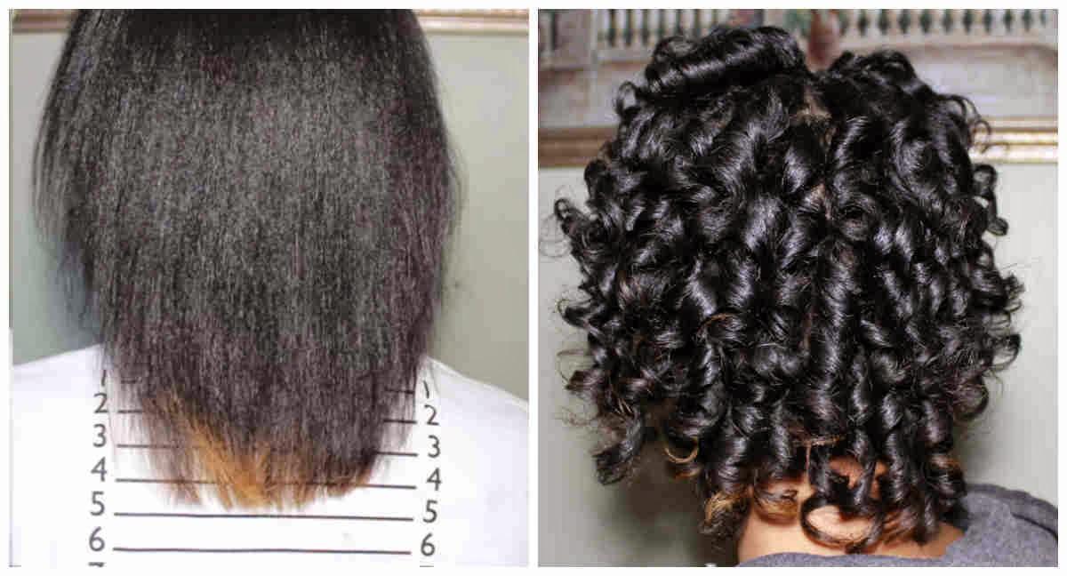 Journey To Waist Length Heatless Curls On Relaxed Hair