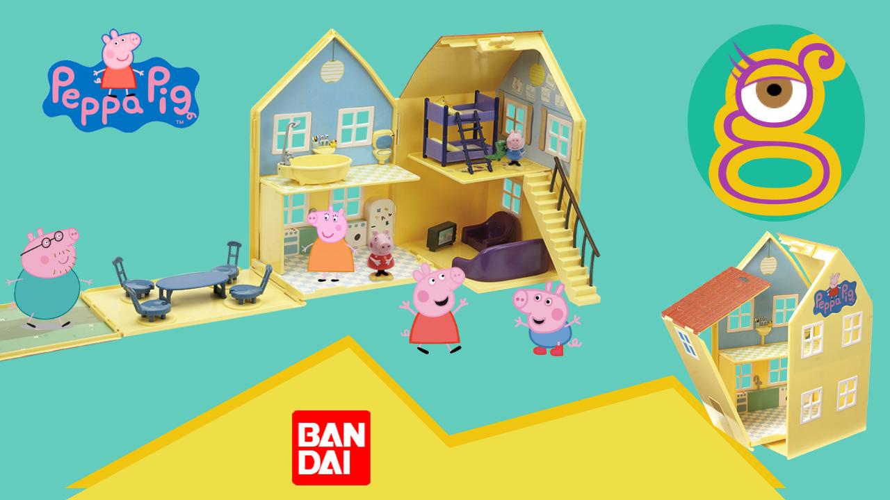 La casa Deluxe de Peppa Pig de Bandai en tremending girls