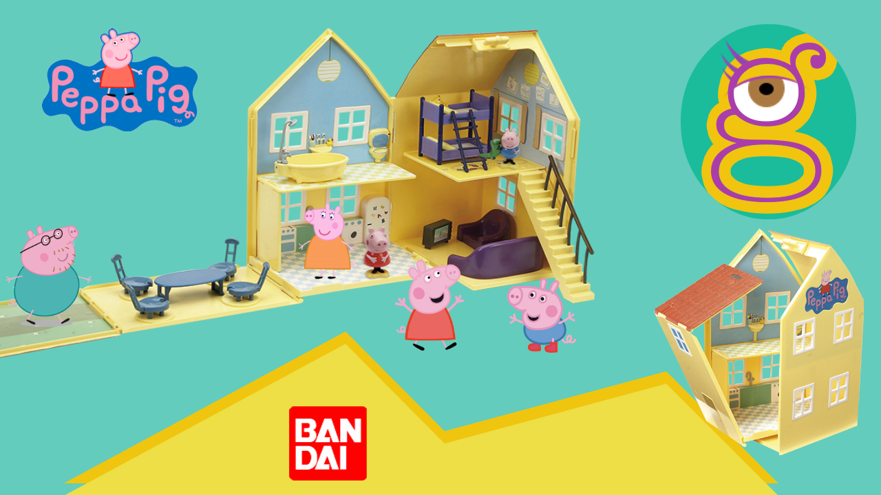 Casa deluxe Peppa Pig y George de Bandai mummy Pig daddy pig en tremending girls