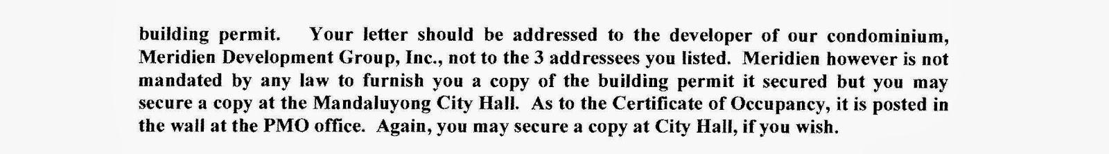 Soho Central Condominium: Certificate of Occupancy