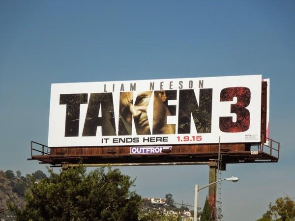 Taken 3 movie billboard