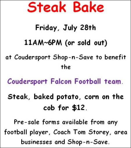 7-28 Falcon Football Steak Bake