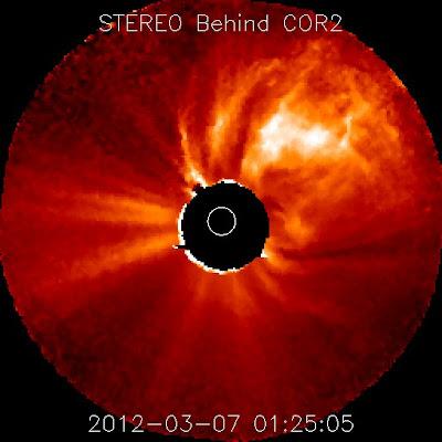 Llamarada solar clase X5.4 - 7 de Marzo de 2012