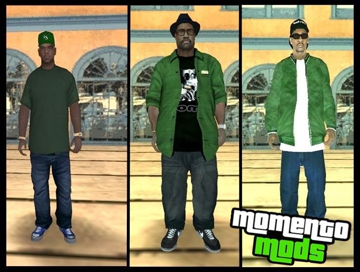 GTA SA - Pack De Skins Da Family Em HD