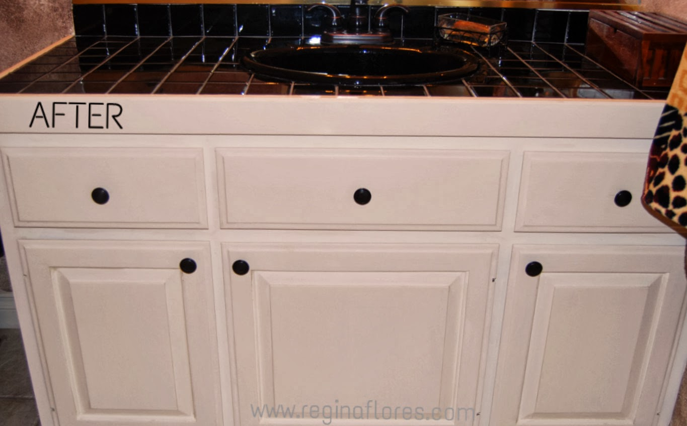 """chalk paint & more: Bathroom cabinets chalk painted """"Old ..."""