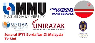 IPTS Berdaftar Malaysia Terkini