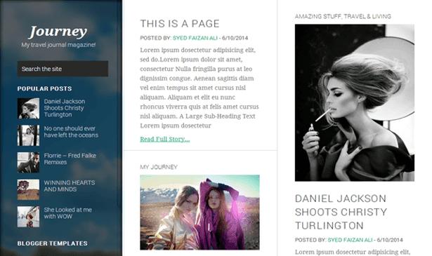 Journey Responsive Blogger Template