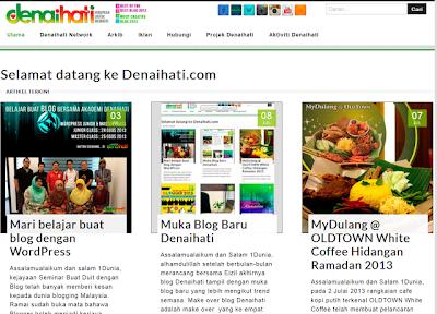 Tampilan Depan Denaihati.com