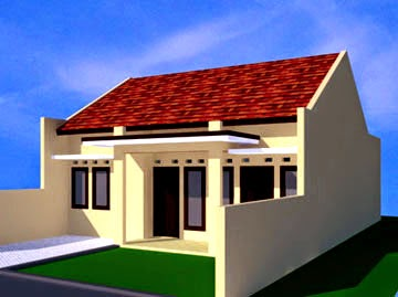 Desain Rumah Sederhana Type 60 - Sudut Kanan