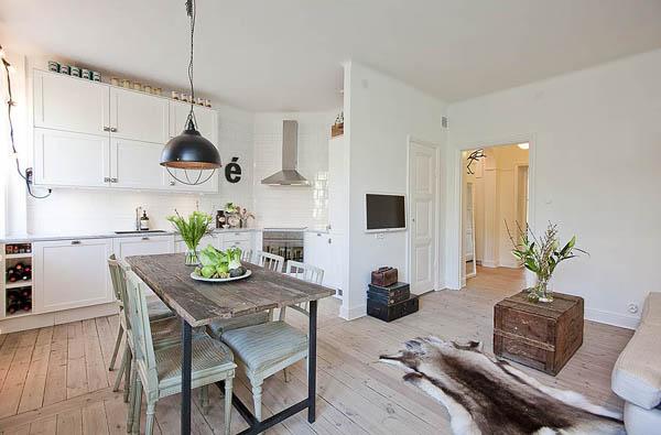 Hogares frescos piso de suecia con encanto y elegancia - Casas decoradas con encanto ...