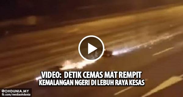 Video: Detik Cemas Mat Rempit Terlibat Kemalangan Ngeri di KESAS