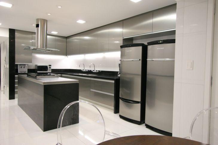 Construindo Minha Casa Clean Cozinhas em Aço Inox  Tendência Industrial! # Cozinha Pequena Inox Ou Branco