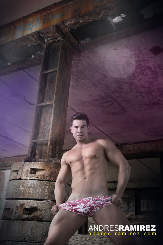 Sexy Samuel Aguiar in Boys Get Wet swimwear
