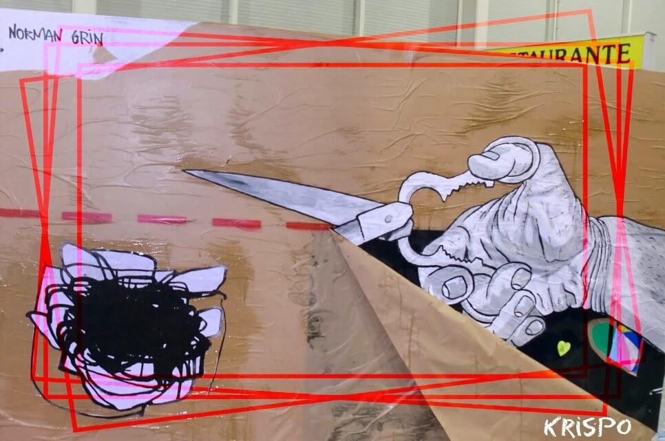 arte mural con papel y pintura