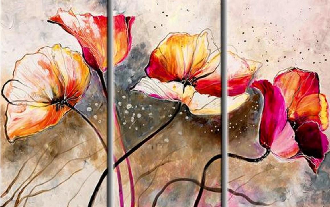 Pinturas abstractos modernos con flores for Imagenes de cuadros modernos
