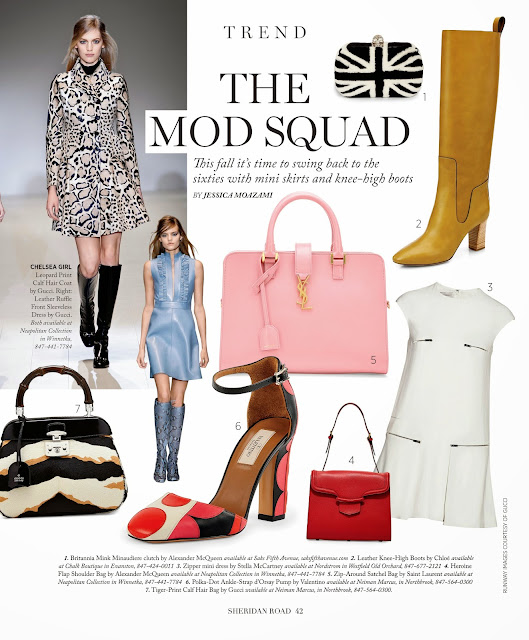 The Mod Squad, 60's fashion trend for 2014 featured in Sheridan Road Magazine by Jessica Moazami