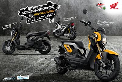 Iklan Honda Zoomer-X sudah lama ada di negara Thailand