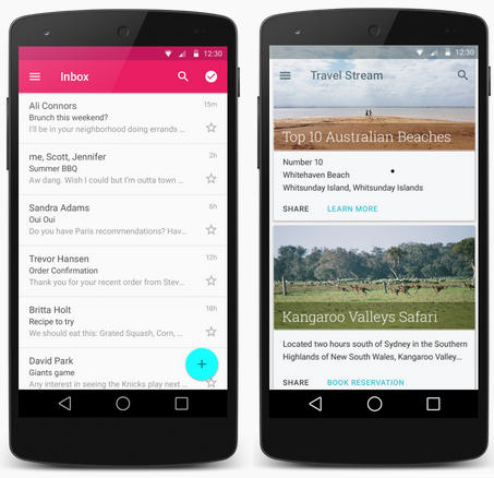 Android L Developer Preview Running on Nexus 5 and Nexus 7