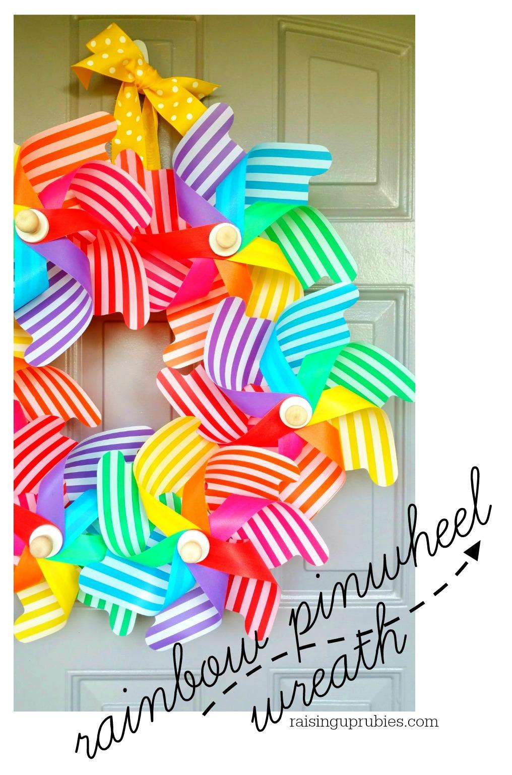 Rainbow Pinwheel Wreath Raising Up Rubies Bloglovin
