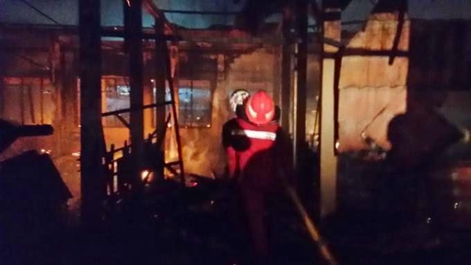 Kebakaran Kantor BKD Kutim : Polisi Segera Olah TKP