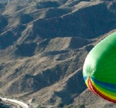 Greenpeace blimp in the vicinity of Rancho Mirage.