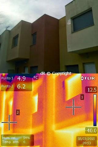 Aplicación de aislante térmico en vivienda