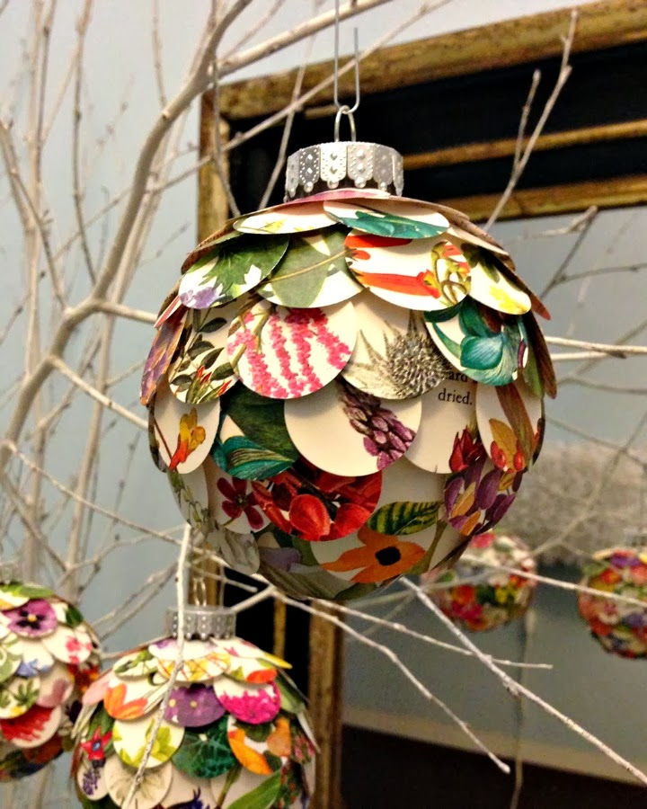 paper artichoke ornament tutorial