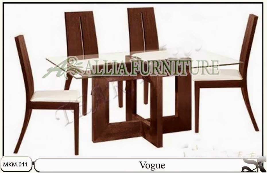 Kursi meja makan set desain minimalis Vogue