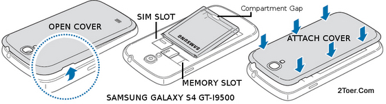 Samsung Galaxy S4 GT-I9500 Open Casing Replace Back Cover