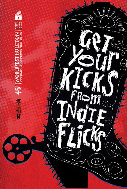 illustration for an indie film festival in houston