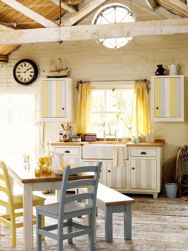 Estilo rustico cocinas en casas de campo for Free standing kitchens john lewis