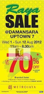 Metrojaya Raya Sale Uptown 2012
