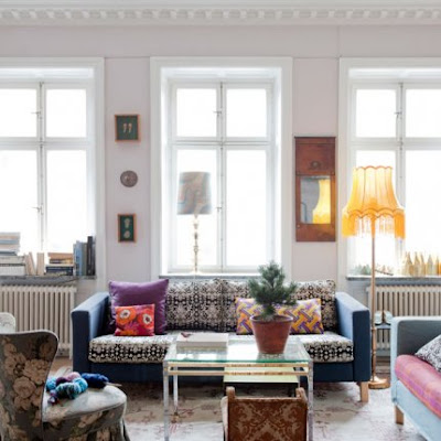 Un appartamento dove i tessili regnano sovrani