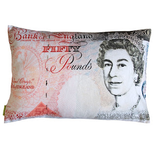 bank note cushion